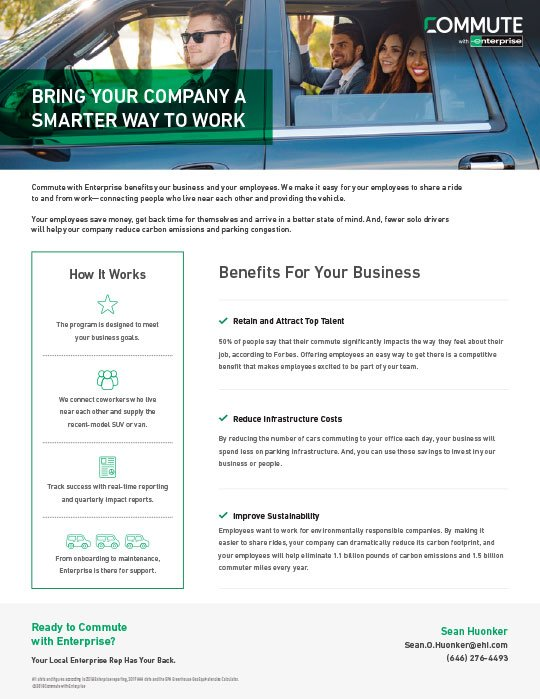 Enterprise Commute Employer Benefits Thumbnail Image