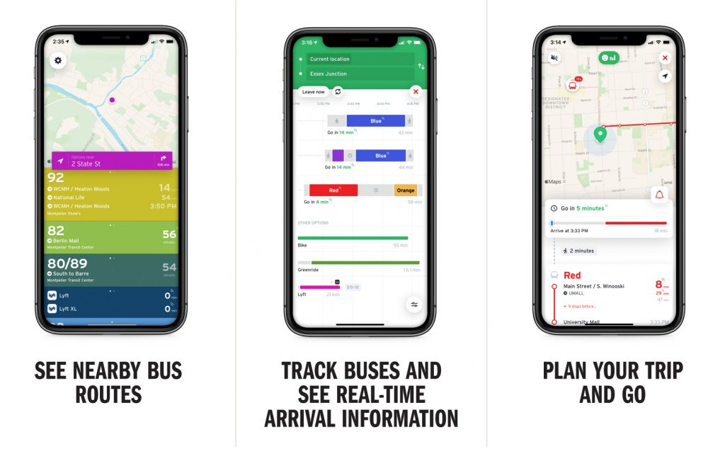 See nearby bus routes / Track buses and see real-time arrival information / Plan your trip and GO