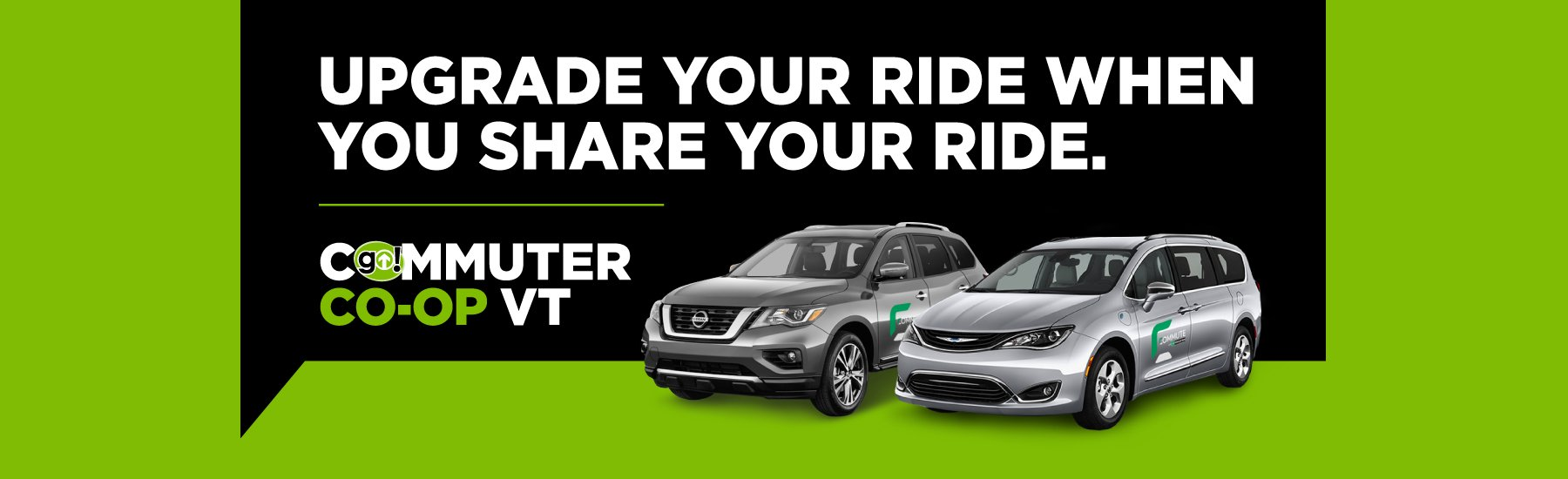 Upgrade your ride when you share your ride