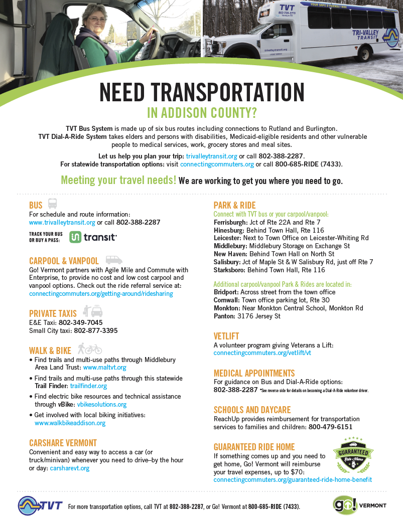 Addison Transport Guide
