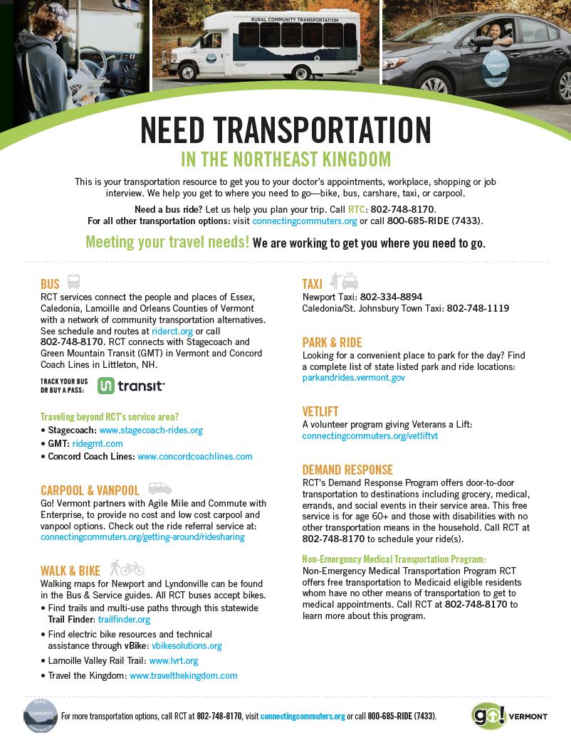 Northeast Kingdom Transport Guide